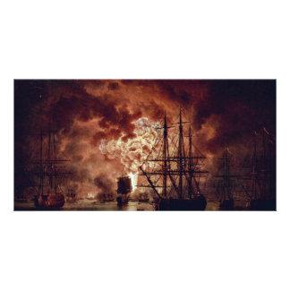 Destruction Of The Turkish Fleet At The Battle Of Photo Card