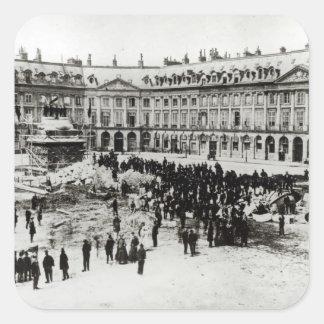 Destruction of the Vendome Column Square Sticker