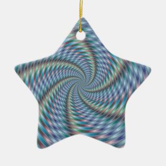 Destructor de la mente - arte del fractal adorno de cerámica en forma de estrella