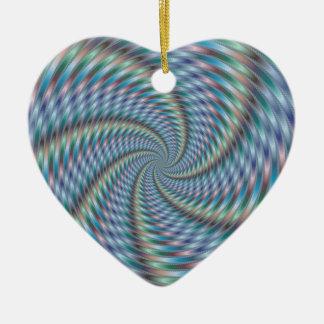 Destructor de la mente - arte del fractal adorno de cerámica en forma de corazón