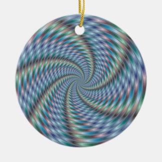 Destructor de la mente - arte del fractal adorno redondo de cerámica