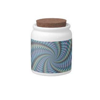 Destructor de la mente - arte del fractal jarras para caramelos