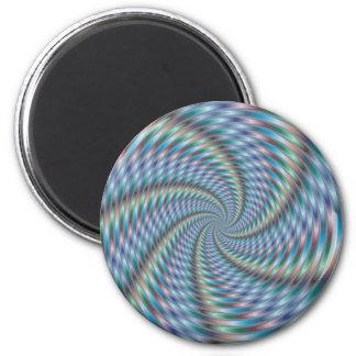 Destructor de la mente - arte del fractal imán redondo 5 cm