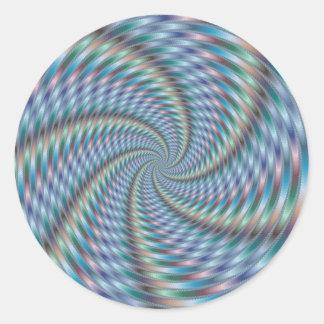 Destructor de la mente - arte del fractal pegatina redonda
