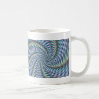 Destructor de la mente - arte del fractal taza básica blanca
