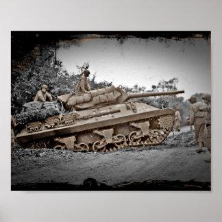 Destructor del tanque M-10 WWII Póster
