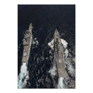 Destructor USS Gridley del misil teledirigido Póster