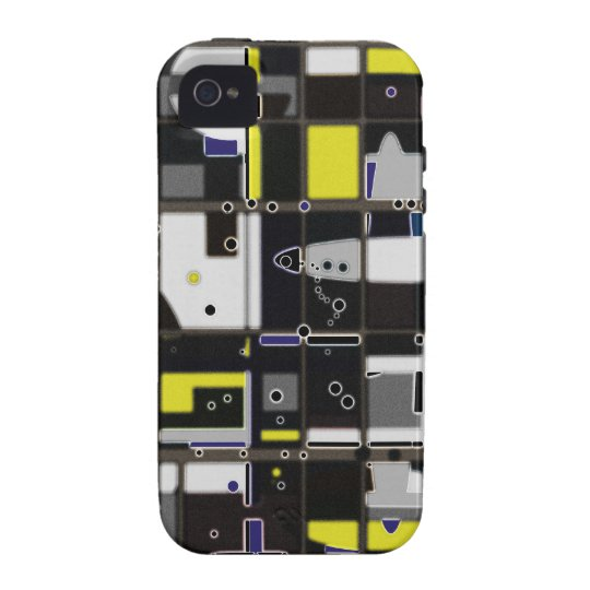 Destructured custom abstract design iPhone 4 case