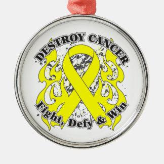 Destruya al cáncer testicular ornamentos de reyes