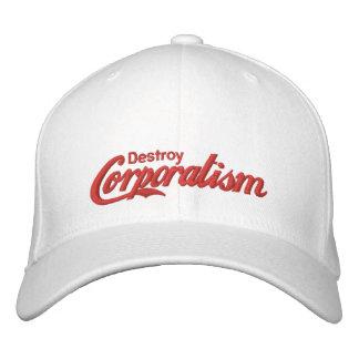Destruya el corporatismo gorra de beisbol bordada