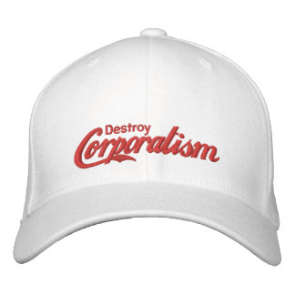 Destruya el corporatismo gorras de béisbol bordadas