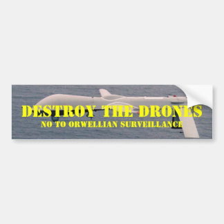 Destruya los abejones pegatina de parachoque