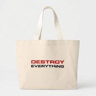 Destruya todo bolsas lienzo