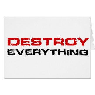 Destruya todo tarjeton