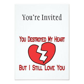 """Destruyó a mi tarjeta del día de San Valentín del Invitación 5"""" X 7"""""""