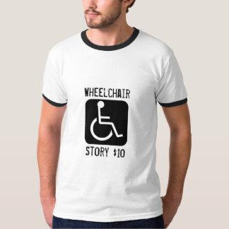 desventaja, silla de ruedas, historia $10 polera