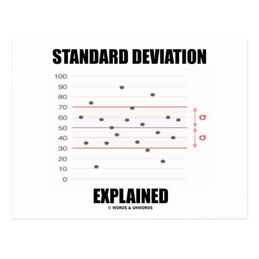 Desviación estándar explicada postal