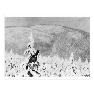 Det Sner Og Det Sner by Theodor Severin Kittelsen Postcard