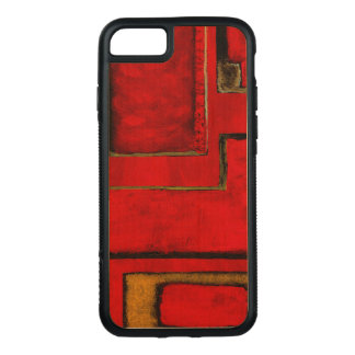 Detached Abstract Geometric Art Red Black Painting Carved iPhone 8/7 Case