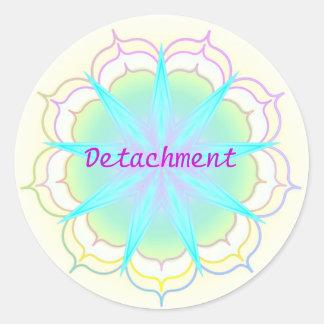 Detachment (Virtue sticker) Classic Round Sticker