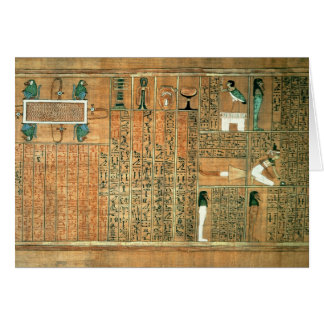 Detail depicting the deceased and his Ba Card