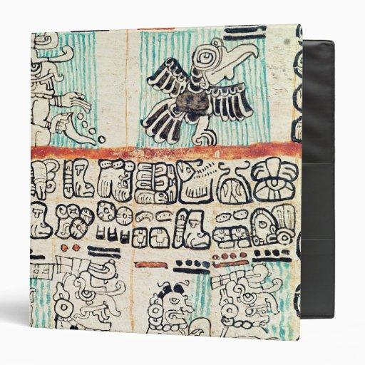 Detail from a Mayan codex 3 Ring Binder
