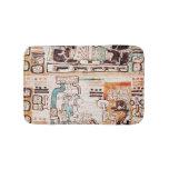 Detail from a Mayan codex Bath Mats