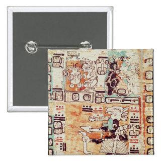 Detail from a Mayan Codex Button