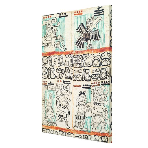 Detail from a Mayan codex Gallery Wrapped Canvas