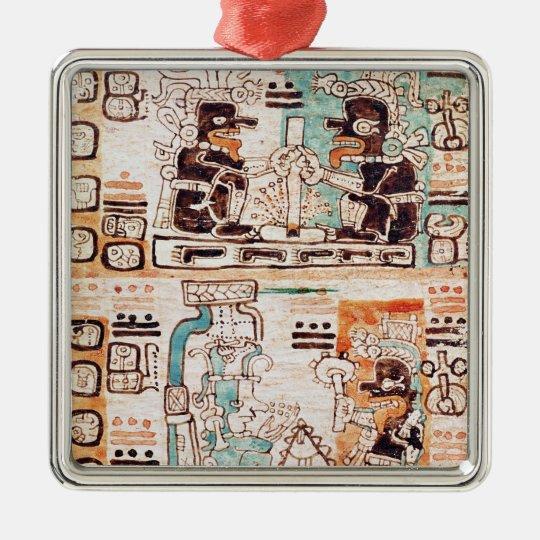 Detail from a Mayan codex Metal Ornament