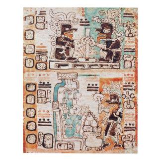 Detail from a Mayan codex Panel Wall Art