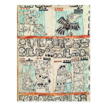 Detail from a Mayan codex Postcards