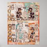Detail from a Mayan codex Print