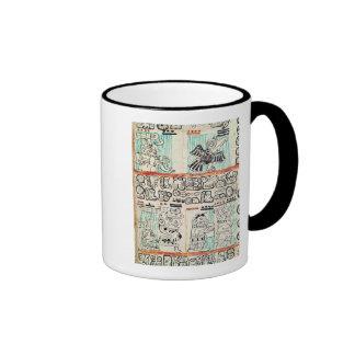 Detail from a Mayan codex Ringer Mug