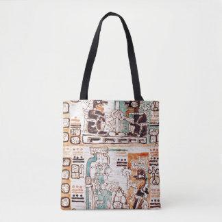 Detail from a Mayan codex Tote Bag