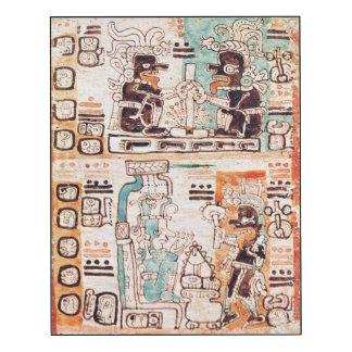 Detail from a Mayan codex Wood Wall Art