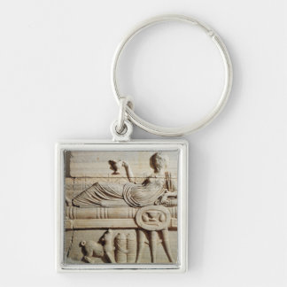 Detail from a sarcophagus keychain