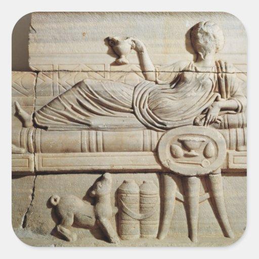 Detail from a sarcophagus sticker