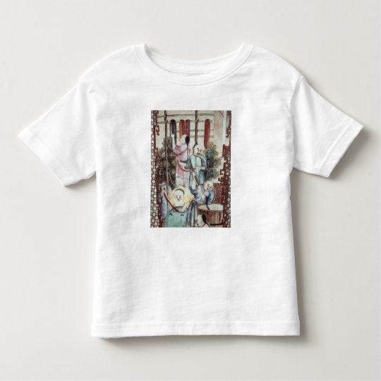 Detail from a vase depicting men dyeing silk toddler t-shirt
