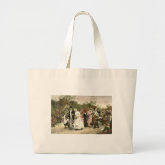 Detail from A Village Wedding by Luke Fildes Jumbo Tote Bag