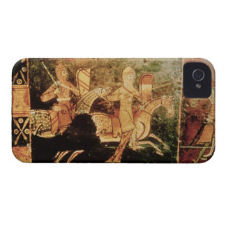 Detail from a wedding chest depicting soldiers goi iPhone 4 cover