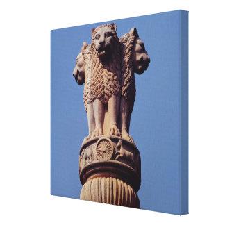 Detail from an Ashoka Pillar Stretched Canvas Prints