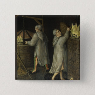Detail from Mining Landscape, 1521 Pinback Button