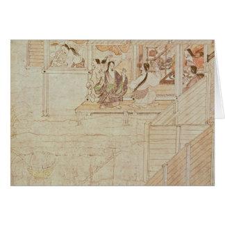 Detail from Shigisan Engi Emaki, Kamakura Period Card