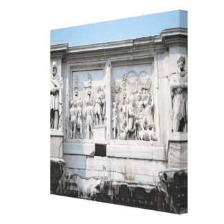 Detail from the Arch of Constantine Canvas Print
