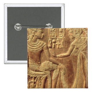 Detail from the Golden Shrine of Tutankhamun 2 Inch Square Button
