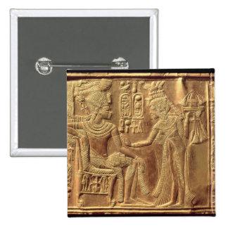 Detail from the Golden Shrine of Tutankhamun Pinback Button
