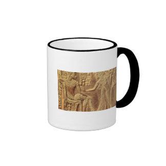 Detail from the Golden Shrine of Tutankhamun Ringer Coffee Mug