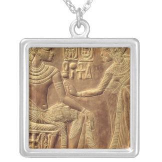 Detail from the Golden Shrine of Tutankhamun Square Pendant Necklace