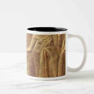 Detail from the Golden Shrine of Tutankhamun Two-Tone Coffee Mug